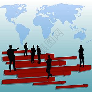 商业金融业绩增长图片