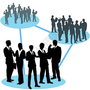 商务人与人之前相互关联图片