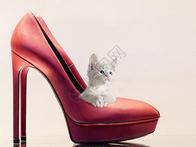 红色高跟鞋图片