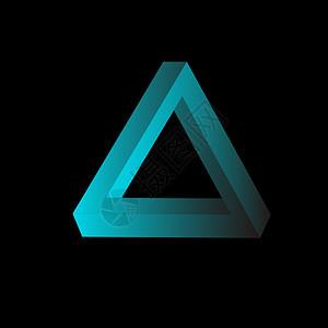 潘洛斯三角可自行渐变图片