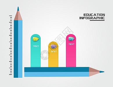 创意铅笔信息图图片