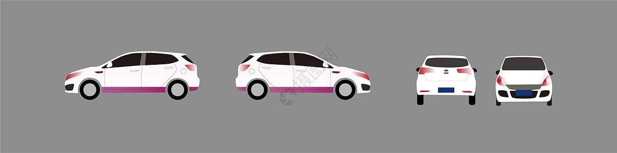 小汽车平面模型图图片