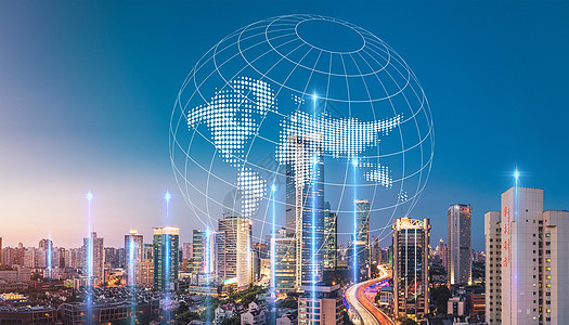 商务科技城市地球图片