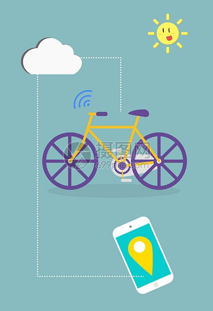 扁平化共享单车图片