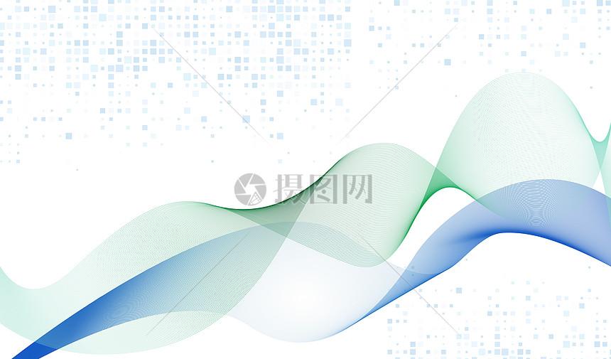 蓝绿混合线条科技背景