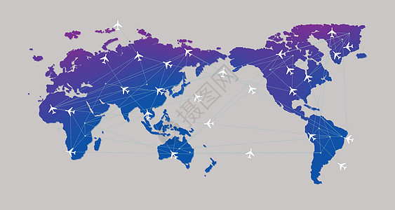地图飞机路线图片