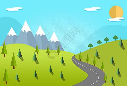 山丘上的植物林图片