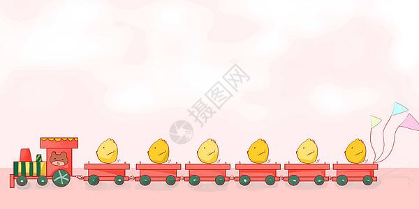 卡通运输小火车图片