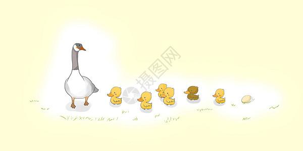 鸭妈妈和小鸭子图片