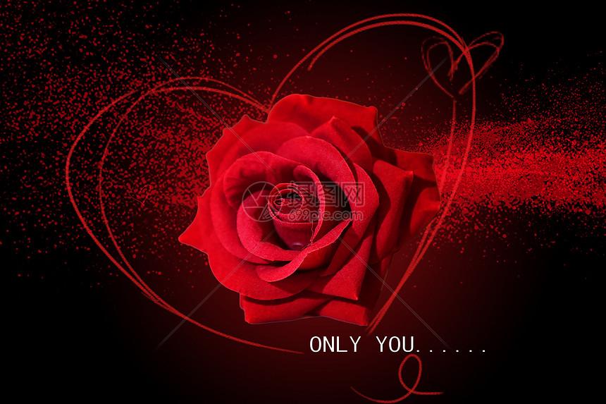 唯美圖片 炫酷紅色玫瑰愛情黑色背景psd  分享: qq好友 微信朋友圈 qq