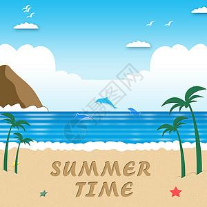 沙滩景色图片