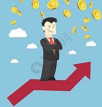 股票上涨图片