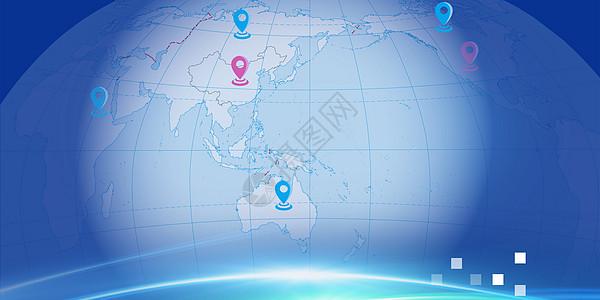 蓝色科技会议背景图图片