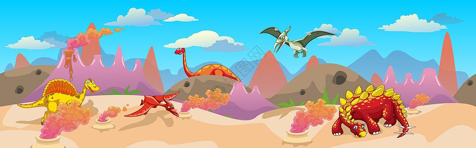 卡通恐龙时代图片