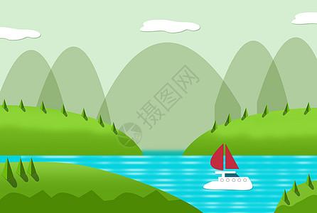 溪边的景色图片