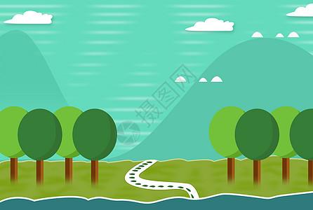 森林里的小路图片