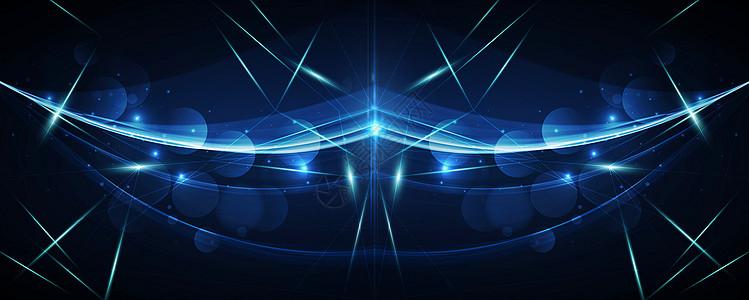 科技线条炫酷星空蓝色背景图片