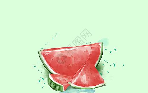 冰爽的蓝西瓜图片