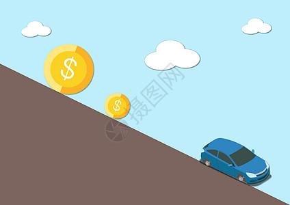 人生不努力就会被钱的压力给紧迫到走下坡路图片