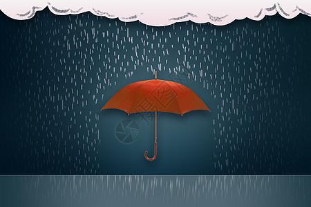 红色的庇护伞图片