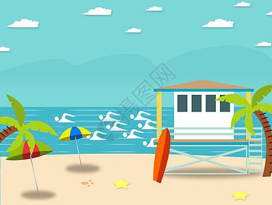 沙滩上的临时站点图片