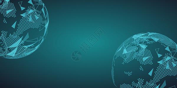 矢量蓝色科技banner背景图片
