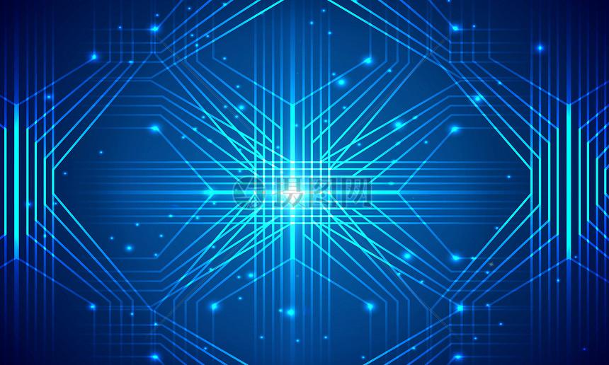 大气科技线条蓝色背景