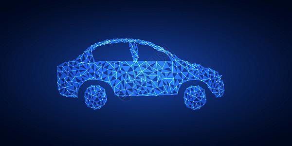 矢量晶格化汽车素材图片