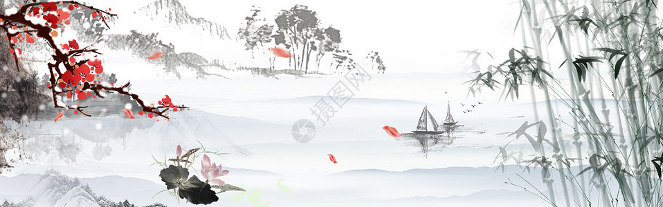 中国风风景画图片
