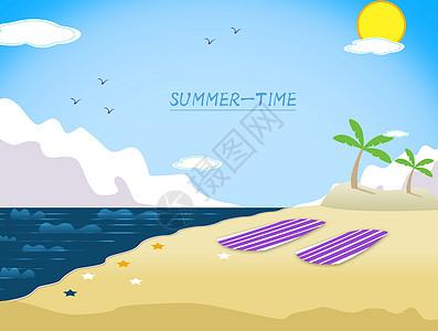 夏日景色图图片