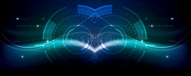 炫酷科技信息技术蓝色背景图片