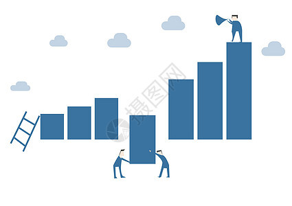 合作云梯数据人物插画图片