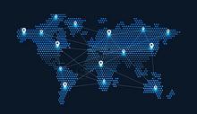 科技地球信息技术蓝色背景图片
