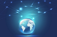 科技地球线条蓝色背景图片