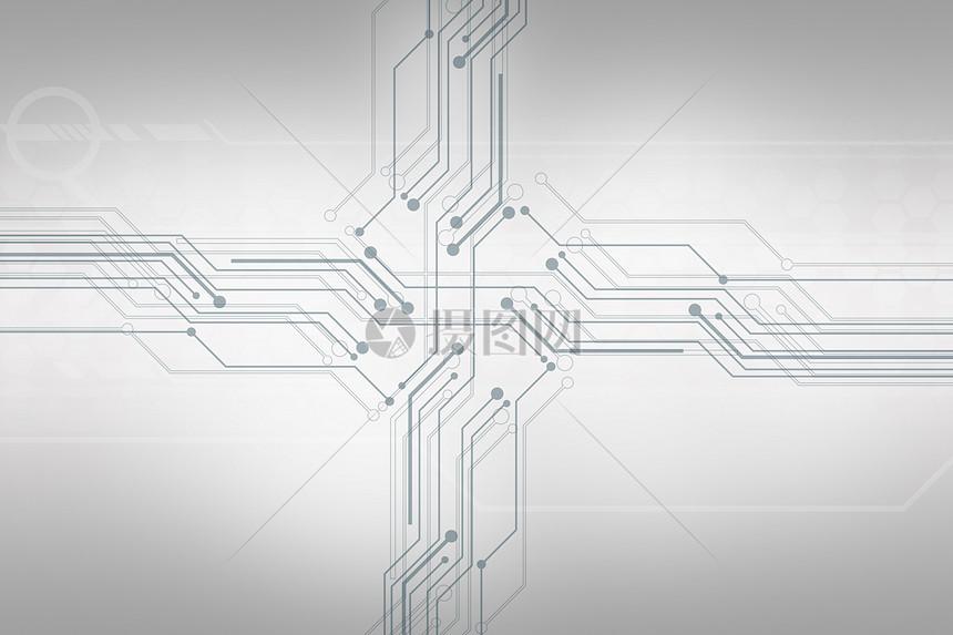 电路科技线条