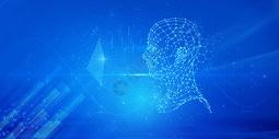 科技大脑信息技术蓝色背景图片