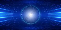 科技线条信息技术蓝色背景图片