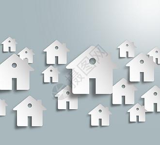 灰色背景下的商业建筑房屋图片