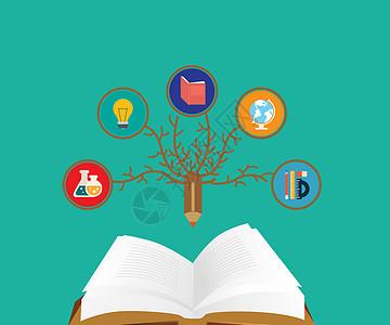 教育信息图打开书图片