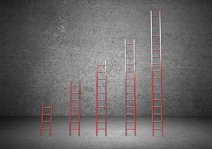 攀登成功的阶梯图片