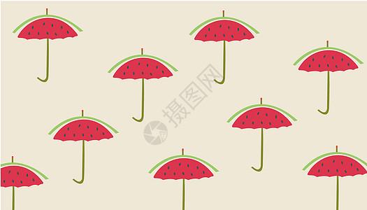 西瓜雨伞图片