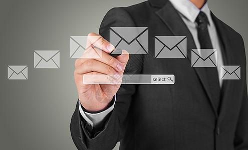 商务人手收发邮件高清图下载图片