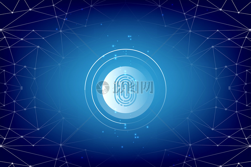 科技素材线条蓝色背景背景网络安全绚丽背景科幻现代安全大气信息技术
