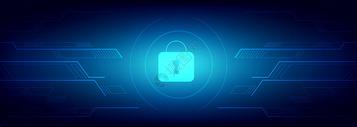 科技网络信息安全技术蓝色背景图片