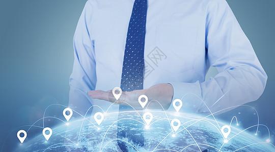 商务人标注地球科技图下载图片