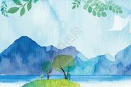水彩清新矢量手绘背景图片