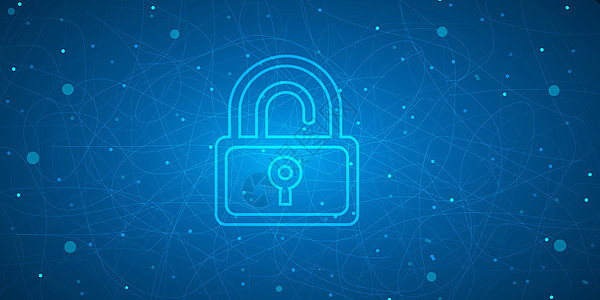 网络安全科技banner背景图片