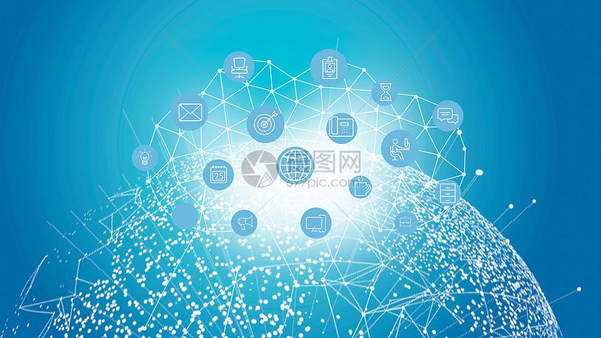 电路与科技云图标图片
