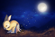 中秋兔子图片