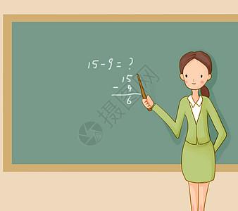手绘上课的老师高清图片